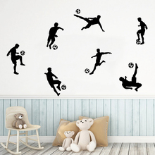 Fashion Sport Boy Football Wall Stickers For Kids Room Pvc Football Sticker Mural Wall Decal wallpaper football sticker book