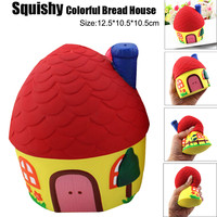 New Arrivals Anti Stress Novelty Squishy Colorful Bread House Phone Straps Slow Rising Bun Charms Gifts