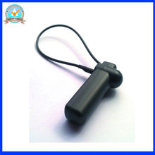 58Khz Reusable eas security tag with lanyard,eas am hard tag with lanyard, black color eas anti theft tag X1000pcs