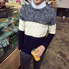 Männlich herbst pullover pullover oansatz langhülse pullover teenager pullover herrenbekleidung 215 m244 p30