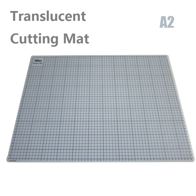A2 Translucent Cutting Mat With Grid Lines 60cmx45cm esteira de corte the self healing mat top quality pvc rectangle self healing cutting mat tool non slip craft quilting printed professional double sided cutting mat