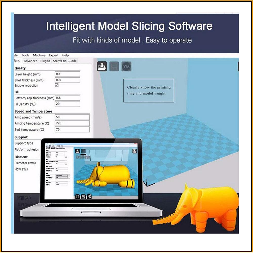 Kit d'imprimante 3D OYfame 200*200*1800mm grande surface d'impression cadre en Aluminium imprimante 3d écran tactile Double extrudeuse