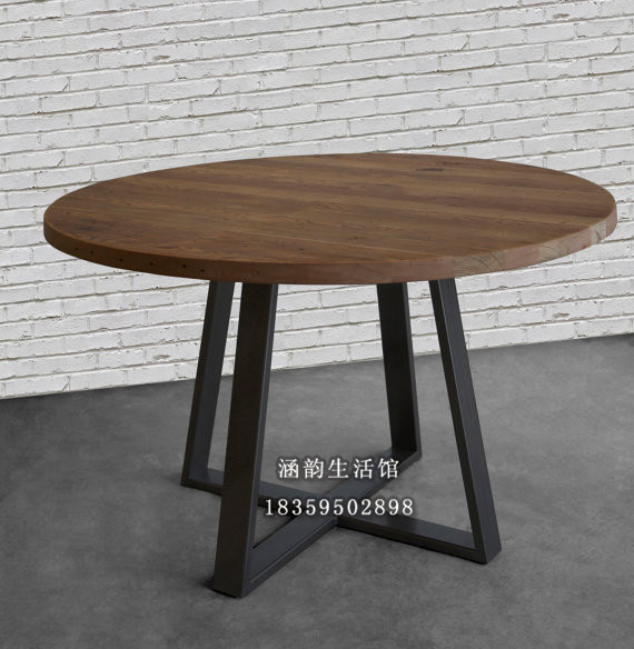 Han Yun americana americano comedor mesa redonda grande mesas ...