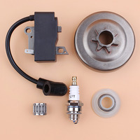 .325 7T Clutch Drum Ignition Coil Magneto Kit fit HUSQVARNA 435 440 440E 445 450 450E Chainsaw Spare Parts 573935701 503931801