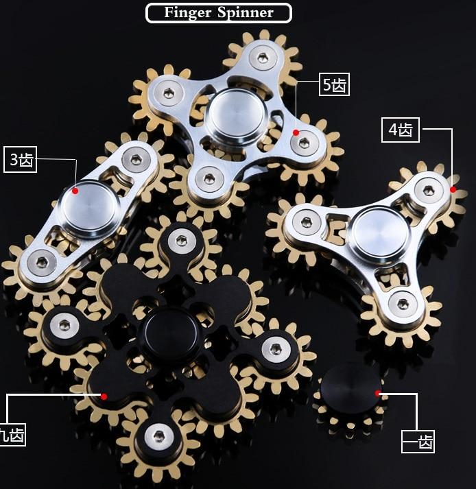 2017 Gears Fidget Spinner Fingertips Finger Top Gyro Toys EDC ADHD - Stress leksaker - Foto 6