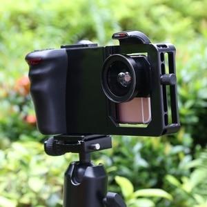 Image 5 - Universal 6.0 Smartphone Stabilizer Rig Grip Professional 0.45X Super Wide Angle Macro Lens Phone Video Steadicam Holder Mount