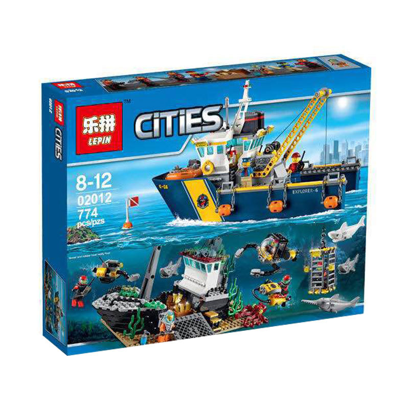 Creative city series deep exploration and name exploration ship Building Blocks Model Sets Educational toys compatible with Lego 774pcs city deep sea explorers 02012 model exploration vessel building blocks bricks children toys ship kit compatible with lego
