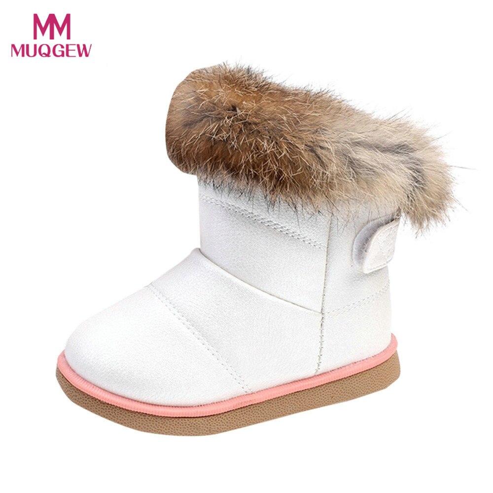 100% QualitäT Haken & Schleife Baumwolle Neugeborenen Baby Schuhe Winter Warme 2017 Jungen Mädchen Kind Weiß Leder Mode Schuhe Martin Boot Bota Infantil # #