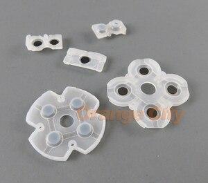 Image 3 - 100 jogos/lote 5 em 1 conjunto para playstation 4 jds001 011 almofadas condutoras de borracha de silicone para peças de reparo do controlador ps4
