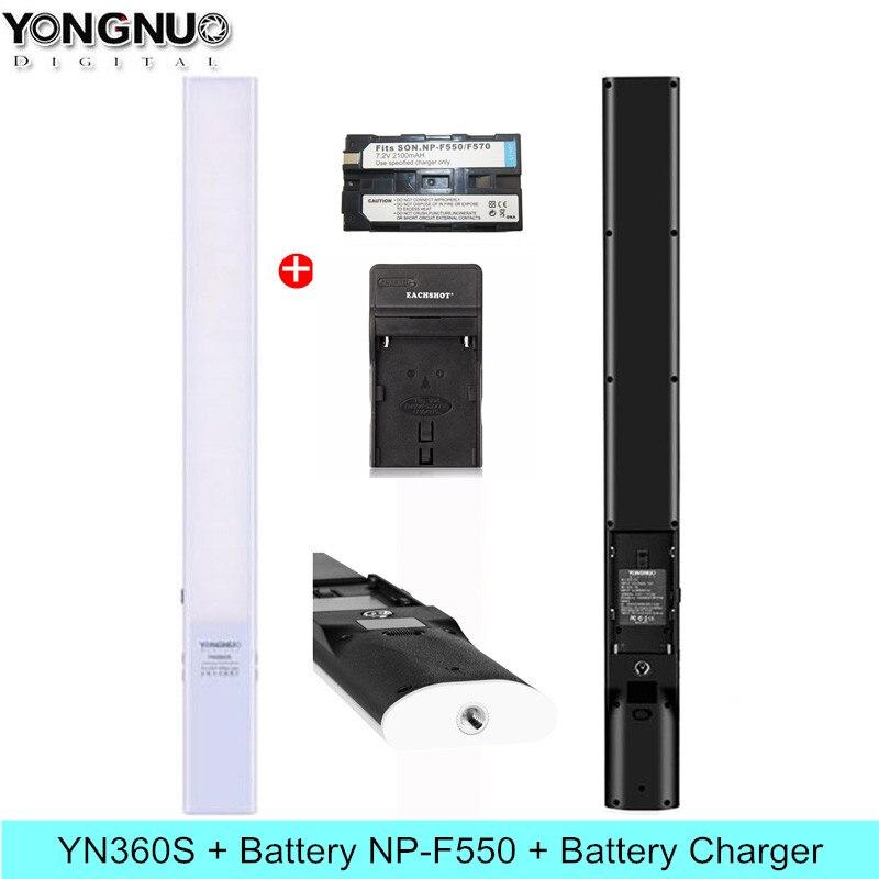 YONGNUO YN360S poche bâton de glace LED lumière vidéo 3200 K-5500 K Studio photographie lampe téléphone App contrôle pour Photo 360 S éclairage