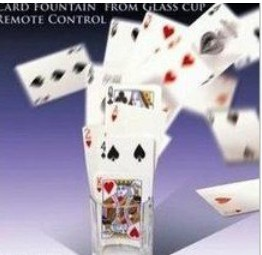 Card Fountain From Glass Cup Remote Control Magic Trick Find Selected Card Magia Magician Stage Gimmick Prop Illusion