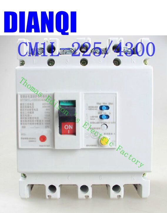 CM1L-225/4300 MCCB 100A 125A 160A 180A 200A 225A molded case circuit breaker CM1L-100 Moulded Case Circuit Breaker cm1 400 4300 mccb 200a 250a 315a 350a 400a molded case circuit breaker cm1 400 moulded case circuit breaker