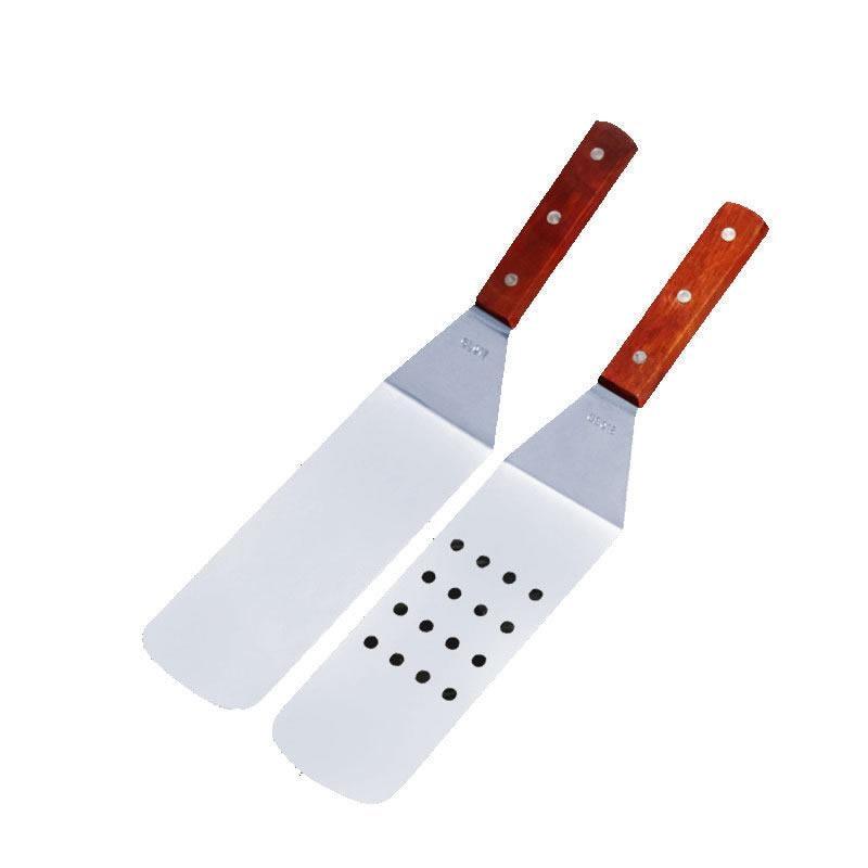2 шт./компл. деревянная ручка Heavy Duty гамбургер Тернер и шпатель с режущей кромкой широкое лезвие Инструменты для барбекю дома кухня пособия по кулинарии посуда