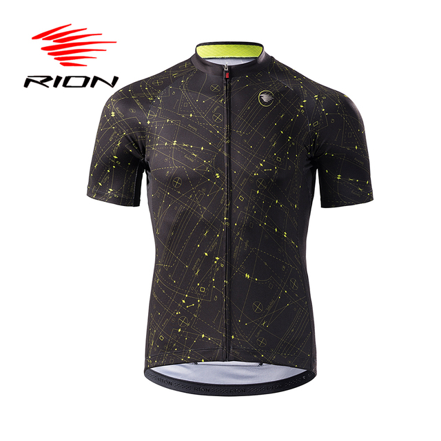 RION Men Cycling Jerseys MTB Mountain Bike Motocross Downhill Short Sleeves Tops Road Bicycle Summer Maillot Ciclismo DH Shirt