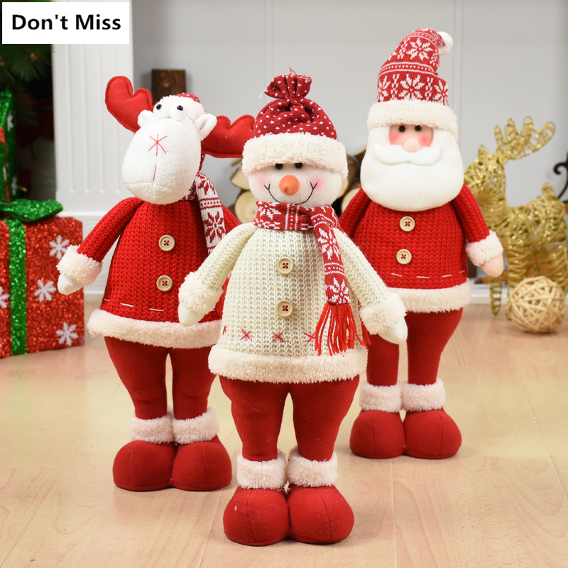 Merry christmas ornaments christmas Gift Santa Claus Snowman Tree Toy Doll Hang Decorations for home Enfeites De Natal