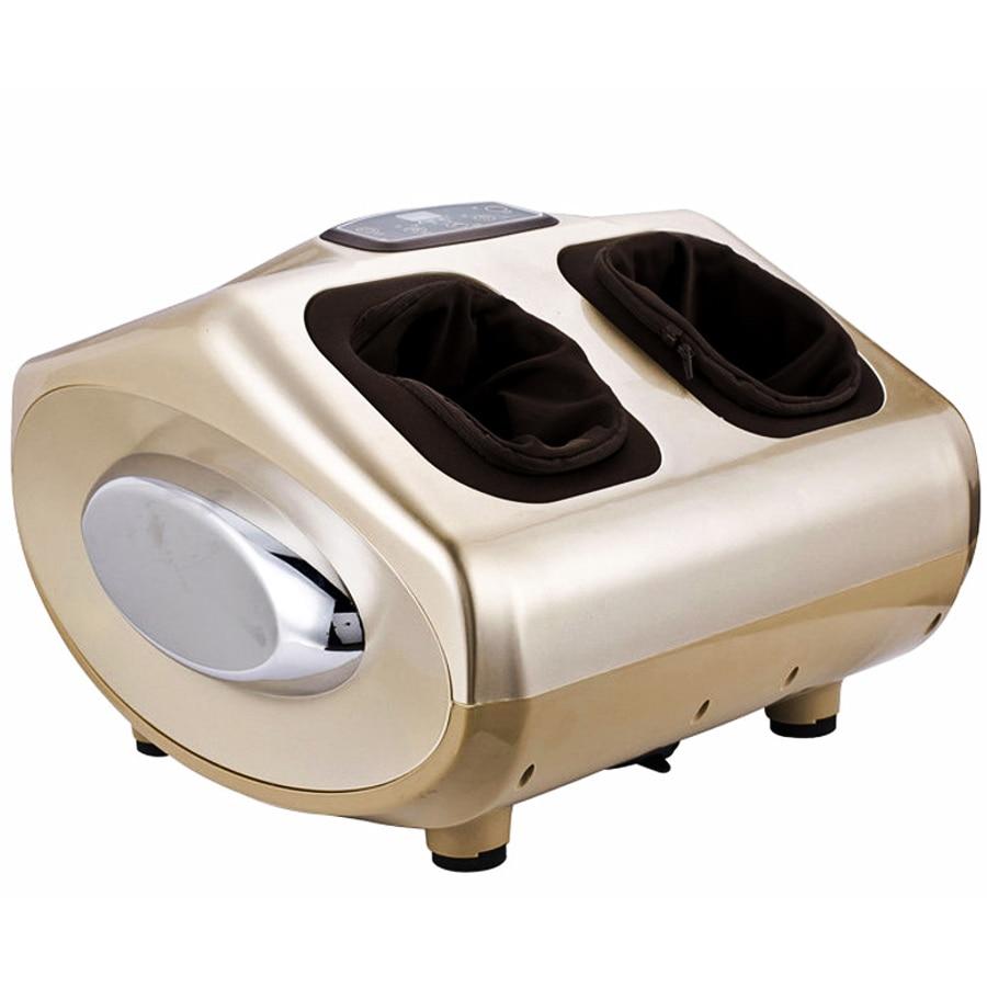 High quality Electric foot massage machine Reflexology Roller massage Air Pressure Heating Shiatsu Acupressure Health care