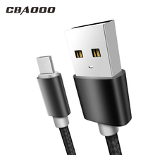 CBAOOO 3A fast Charge Micro USB Cable Nylon Braid Data Cable 1m/2m/3m Mobile Pho
