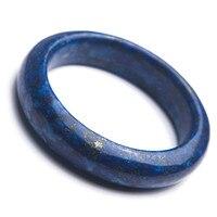 Настоящий натуральный темно синий украшения из лазурита камня для женщин леди Шарм браслет с кристаллами внутренний диаметр 56 мм