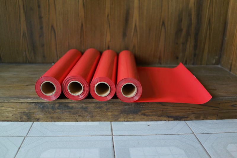 Bricolage adhésif artisanat vinyle coupe feuille couleur rouge lettrage Film decoupage décalcomanie Monofilament Polyester compte impression tissu