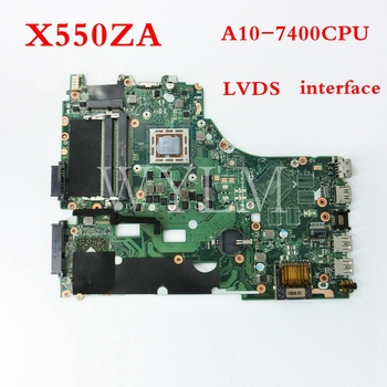X550ZA motherboard A10-7400CPU LVDS mainboard For ASUS VM590Z A555Z X555Z X550ZE X550ZA X550Z K555Z Laptop motherboard Tested цена 2017