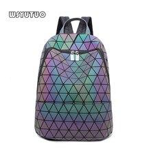 YUTUO Hot Sale Laser Refrac Folding Fashion Shoulder Backpack Shoulder Bag Student School Bags Hologram Women Backpack Bao