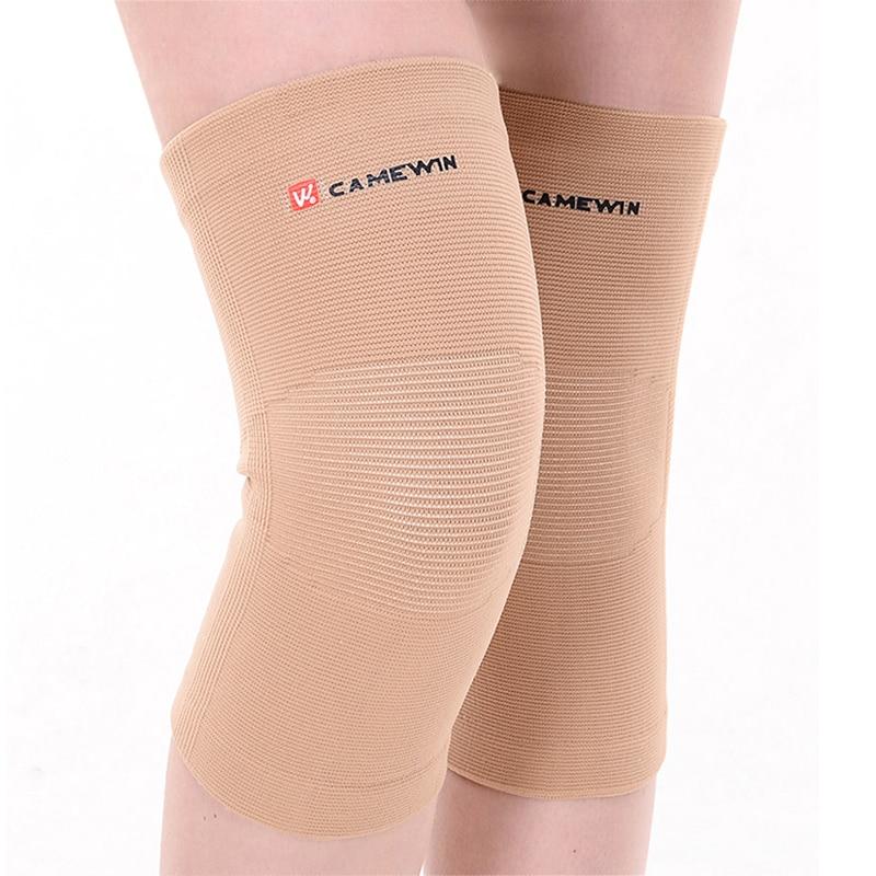 Prix pour 1 paire camewin marque genouillères soutien haute élasticité en plein air genouillère prévenir l'arthrite blessure sport genou garde coude chaud gym