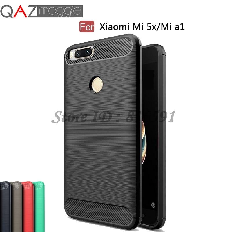 Xiaomi Mi A1 Case Xiaomi Mi A1 Cover 5.5 inch Silicone Soft TPU Brushed Carbon Fiber Texture Case for Xiaomi Mi A1 / MiA1