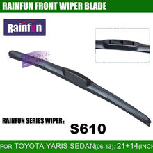 цена на RAINFUN dedicated car wiper blade for TOYOTA YARIS SEDAN(06-1), 21+14 INCH car wiper blade with high quality natural rubber