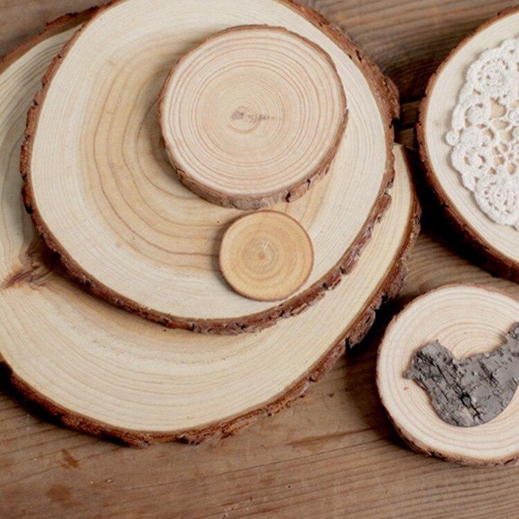 Online Shop Sale 1pcs Thickness 1cm Wood Log Wood Gift Tags Wedding