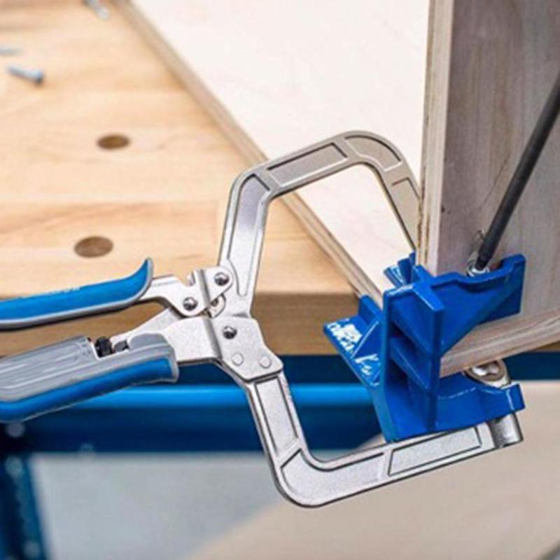 Image 5 - 90 Degree Right Angle Woodworking Clamp Picture Frame Corner Clip Hand Tool Clamps For Woodworking-in Clamps from Home Improvement