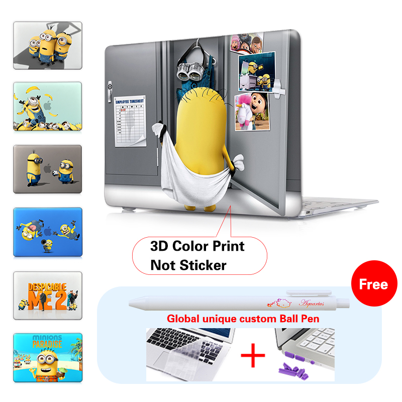 Minion Dressing Room Matte Laptop Case Cover Sleeve For Macbook Air 11 A1465 13 Inch A1466 Pro A1278 Retina A1502 In Bags Cases From