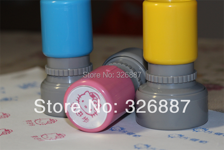 Customized Photosensitive Medium teacher stamp mark Colorful birthday name Word for DIY Scrapbooking Card Wedding Decoration in Stamps from Home Garden