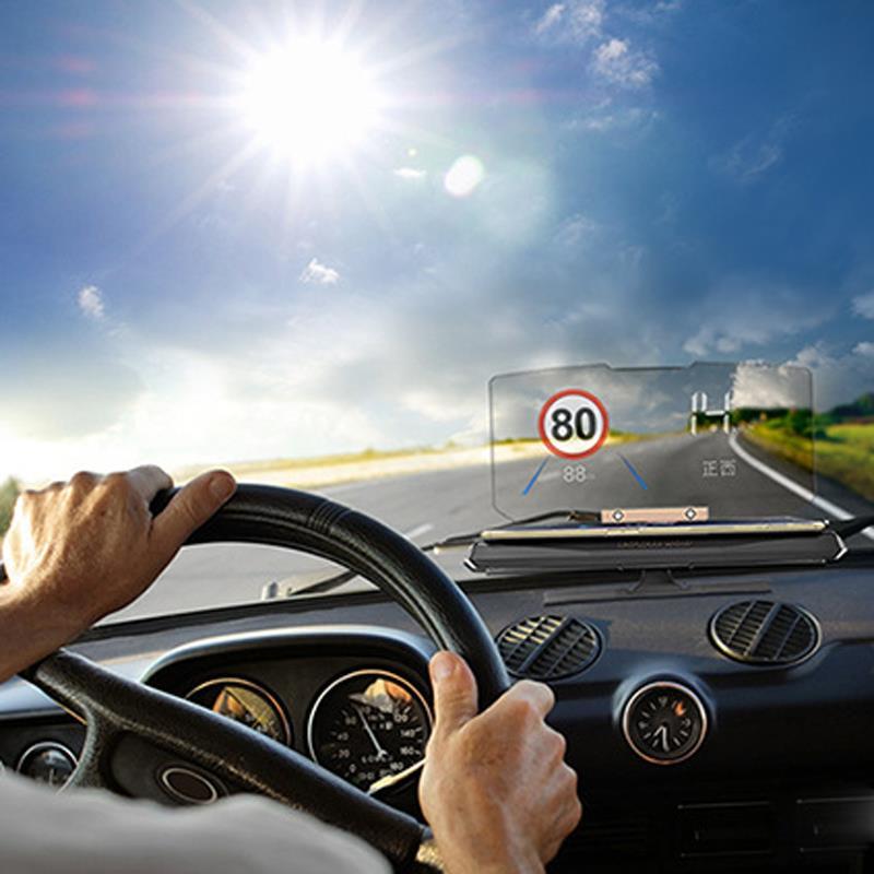 imágenes para GPS de Coche Universal HUD Head Up Display Holder para el iphone Samsung Smart Teléfono Móvil Del Coche Soporte de Navegación Móvil Negro