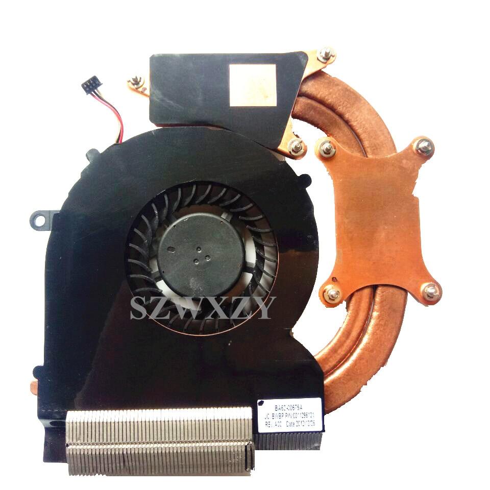 Laptop Cooler Radiator Heatsink Fan For Samsung NP550P5C NP550P7C BA62-00675A BA81-16653A DFS661605FQ0T FBBP DC 5V 0.5A