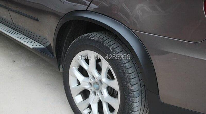 X5 PP Auto Side Fender Flare Moulage Garnitures Noir Mat Voiture Passage De Roue pour BMW F15 X5 2014-2018