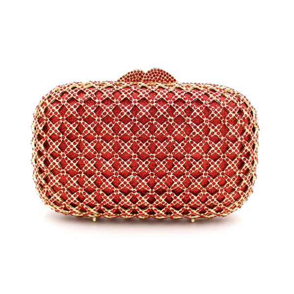 blue Gift Box Metal Minaudiere Clutch RED Evening Crystal Handbags Women Socialite Party Prom Bag Bridal Clutches Wedding Purse women gold crystal evening clutch purse blue hard case metal minaudiere bridal wedding party crossbody bag blue red wallet