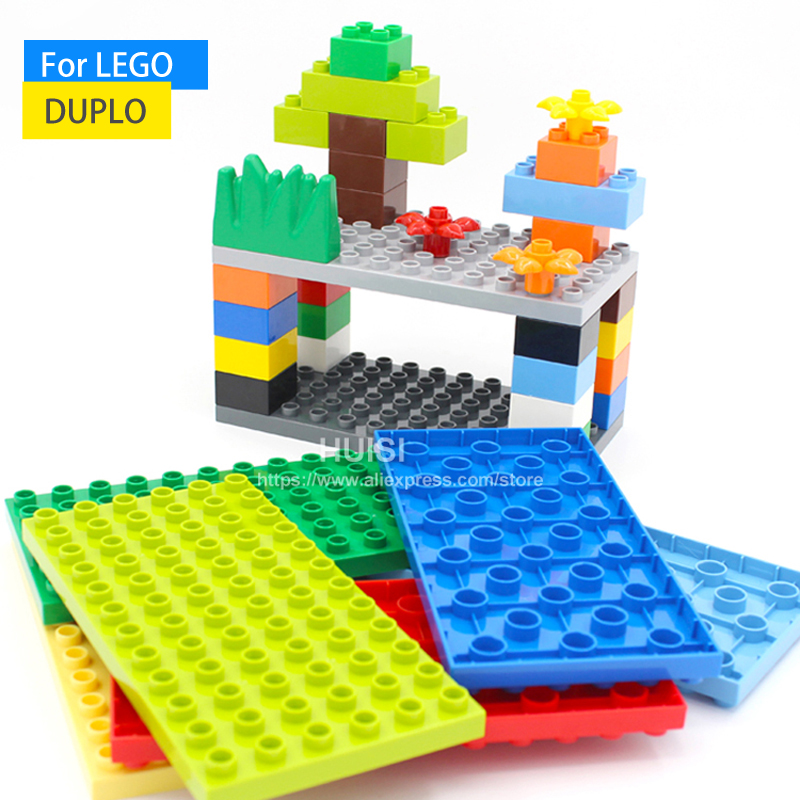Duplo Lego Compatible Kids DIY Toys ABS Plastic Building Toys Blocks Bricks Parts 8x8 Educational Learning