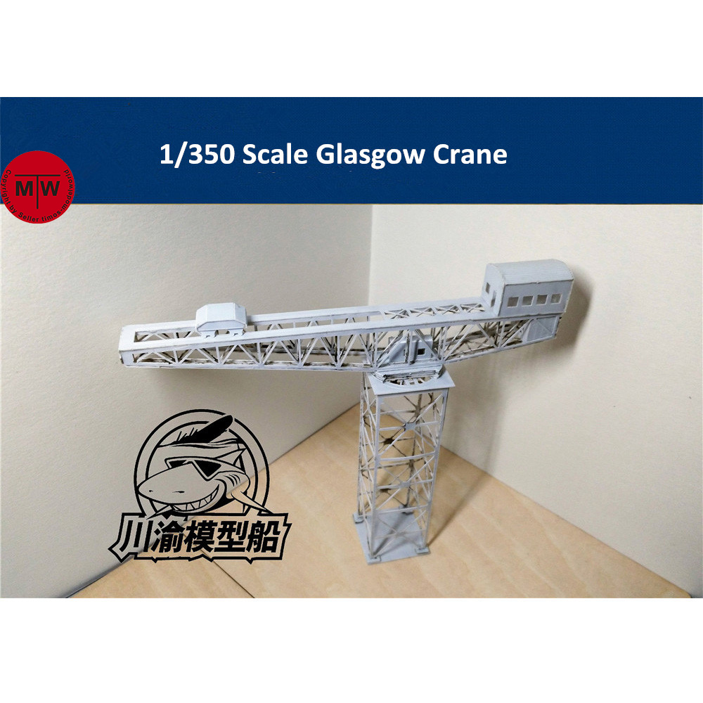 1/350 Scale Glasgow Crane ABS Model Port Harbor Diorama Scene DIY Kits CY809