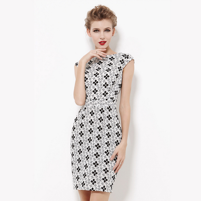 Aliexpress Buy Black And White Lace Dress High Quality Working
