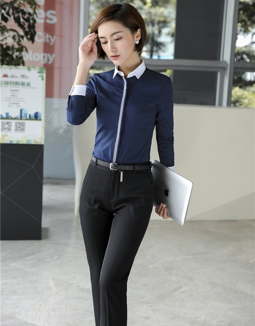 Pantsuits Women Suits With Two Piece Pant And Blouse Sets Office