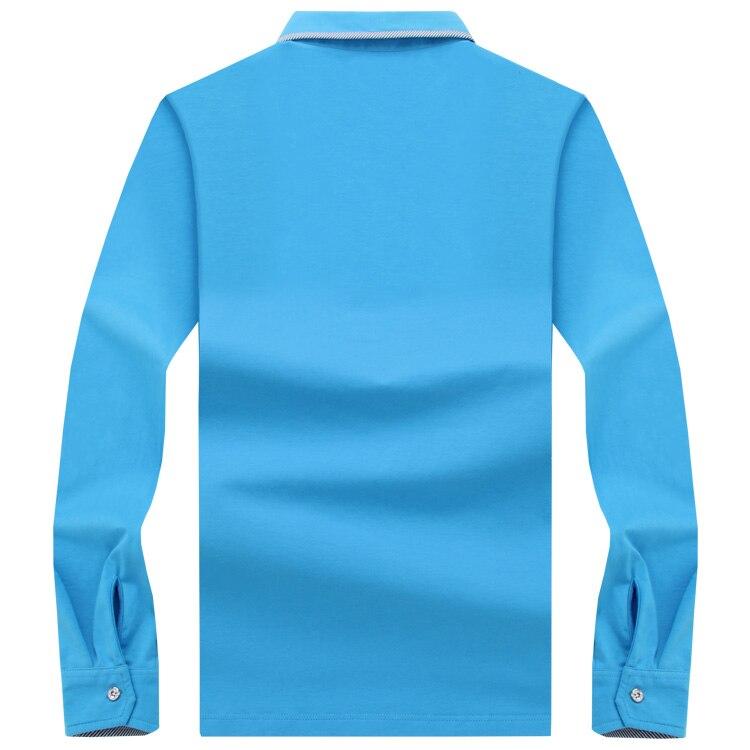 f89269df79 ... Polo para hombre de manga larga Polo sólido camisas Camisa Polos  Masculina 2017 algodón Casual talla grande S-10XL camisetasNota Nuestro  tamaño esTamaño ...