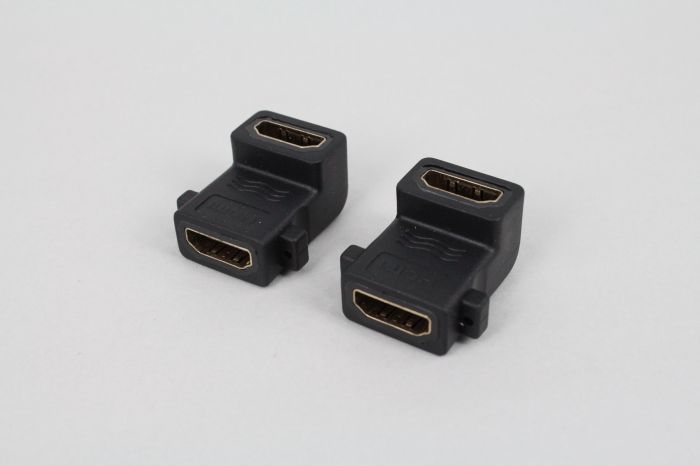 1.4 edition HDMI mother to the mother with the ear 90 degrees adapter head HDMI panel with screw holes can be fixed