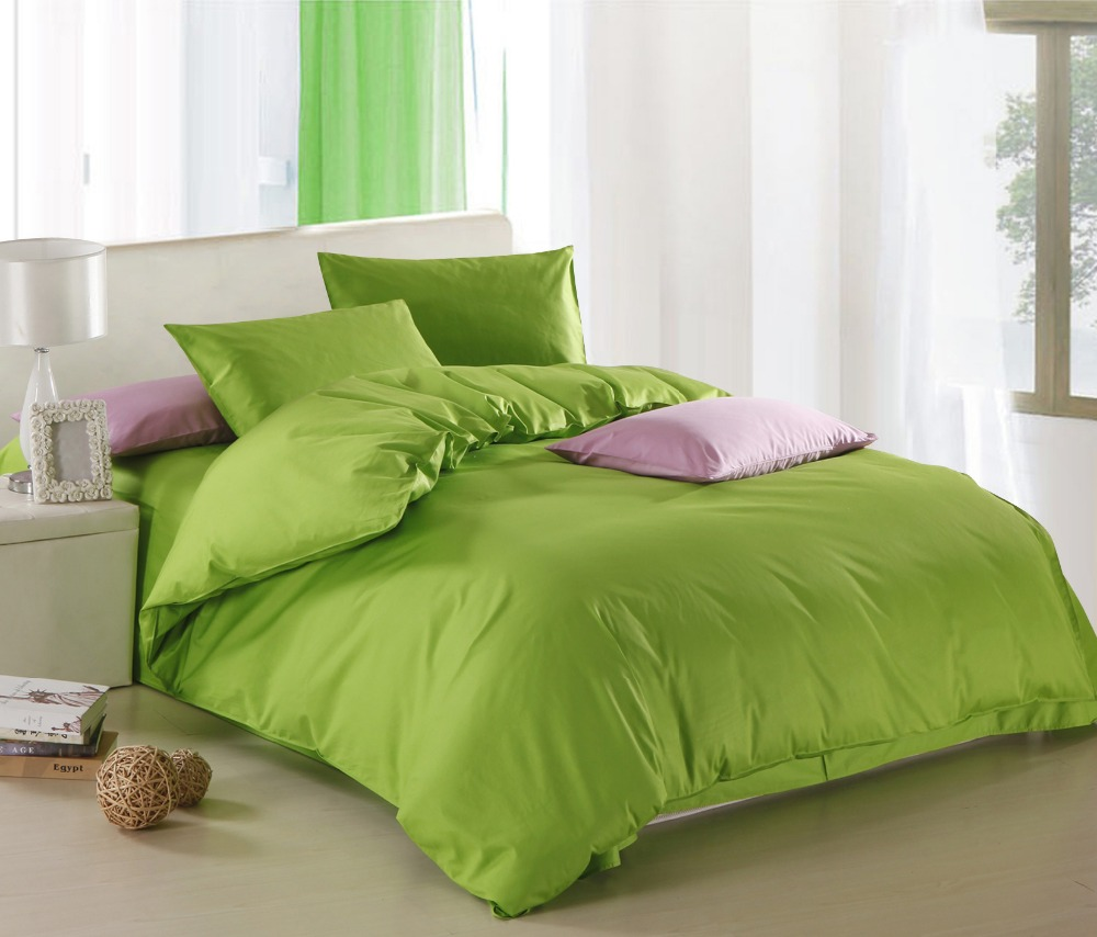 New Green theme high quality home bedding set, 2 pillow case, 1 bed sheet and 1 duvet cover bed coverNew Green theme high quality home bedding set, 2 pillow case, 1 bed sheet and 1 duvet cover bed cover