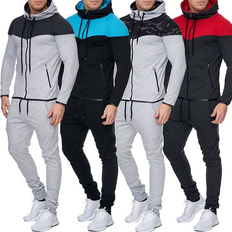 Zogaa Mens Track Suit Set Casual 2 Piece Set Hoodies Sweatshirt And Pants Sweatsuit For Male Clothing Two Piece Men Set 2018