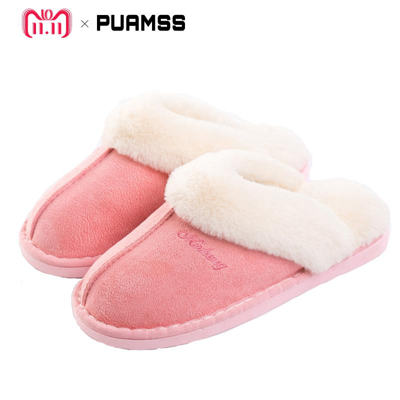 b6a8eb0add53 Women Winter Warm Ful Slippers Women Slippers Cotton Sheep Lovers Home  Slippers Indoor Plush Size House