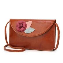 Fashion Womens Shoulder Bags Square Bag Korea Diagonal Lady Flower Pouch Handbag Coin Purse