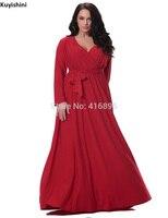 Artı Boyutu Seksi V boyun Elbise 6XL 5XL 4XL 3XL 2XL yüksek Kalite Santa Noel Kırmızı Uzun Kollu Kısa Güz Kış Elbiseler 9144016