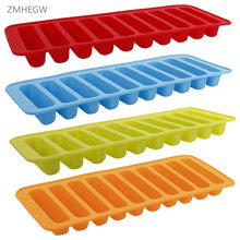 ZMHEGW Silicone Cylinder Mould Pudding Jelly Chocolate Mold Pembuat Ice Cube Tray Freeze(China)