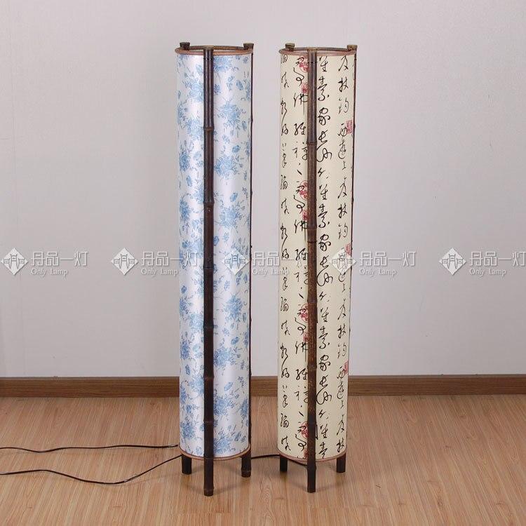 Southeast Asian origin bamboo floor lamp Japanese Korean hotel