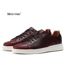 Woodtree Classic 캔버스 신발 남성 캐주얼 신발 편안한 라운드 발가락 레이스 업 플랫 신발 패션 통기성 마모 방지 신발